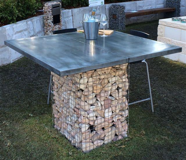 Gabion Cages, Gabion Baskes, Gabion Table, Gabion Bar, Gabion Feature, Decorative Gabion